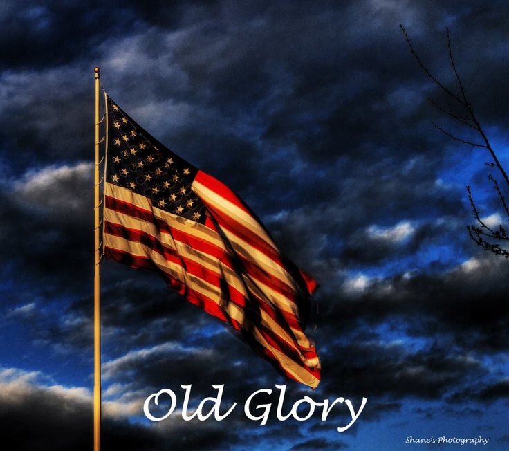 Old Glory ☆☆☆ I took my Dad to Perkins today for a Father's Day breakfast. When he saw the large flag outside the restaurant blowing in the wind, he commented on how calmly it was unfurling. He may not be himself anymore at 87, but he still notices beauty. 6-17-2017.