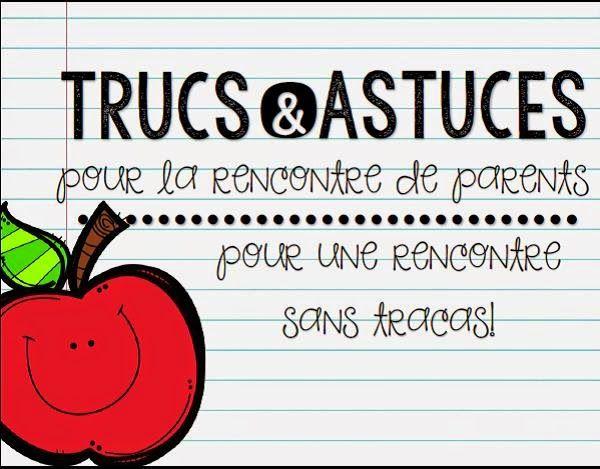 Préparer la rencontre de parents! http://laclassedekarine.blogspot.ca/