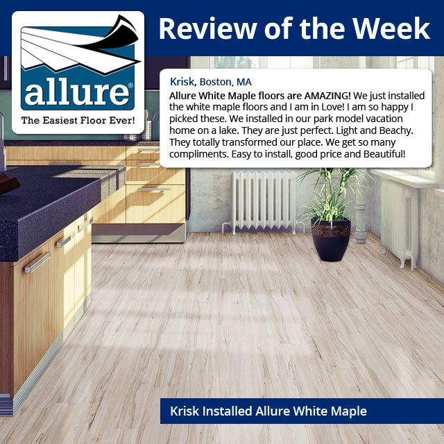 Transform Your Home With An Exciting Decorative Finish By Using  TrafficMASTER Allure White Maple Luxury Vinyl Plank Flooring. Durable Vinyl  Flooring Is ...
