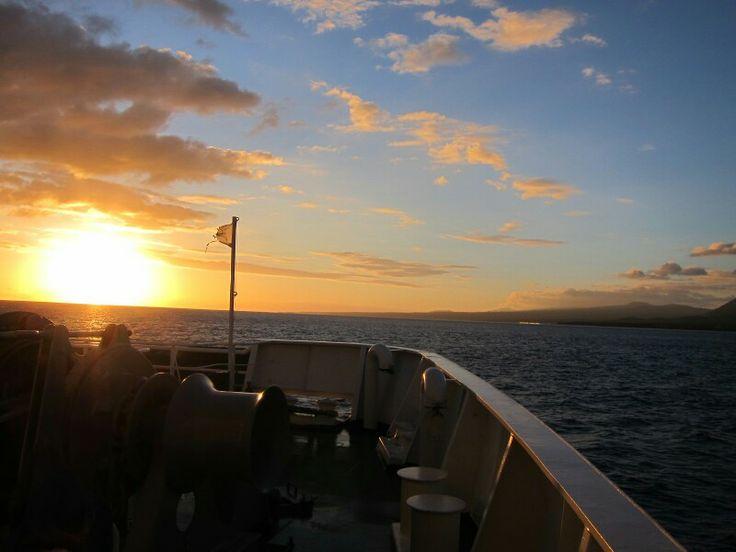 That sunrise #TakeMeBack #Samoa #SavaiiToUpolu