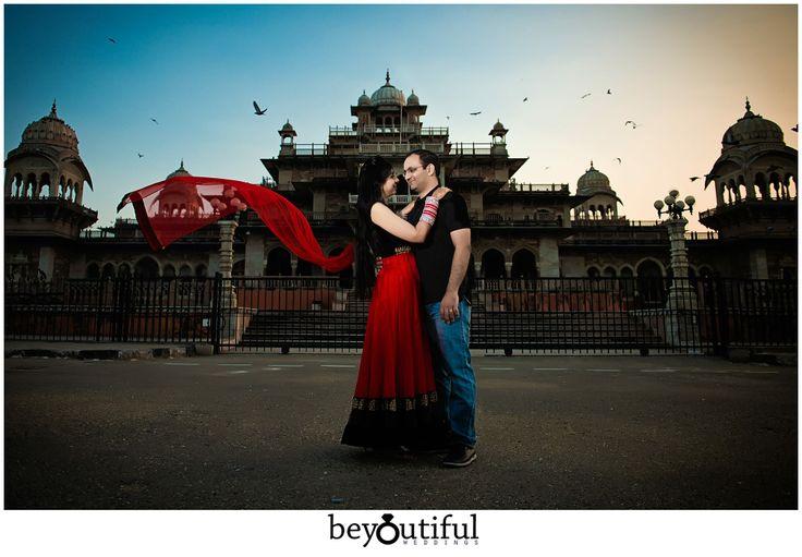 Pre-wedding couple shoot in Jaipur, India by Beyoutiful Weddings