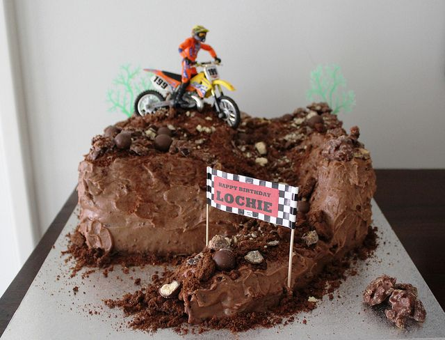 Motocross Cake Birthday Cakes Pinterest Cakes