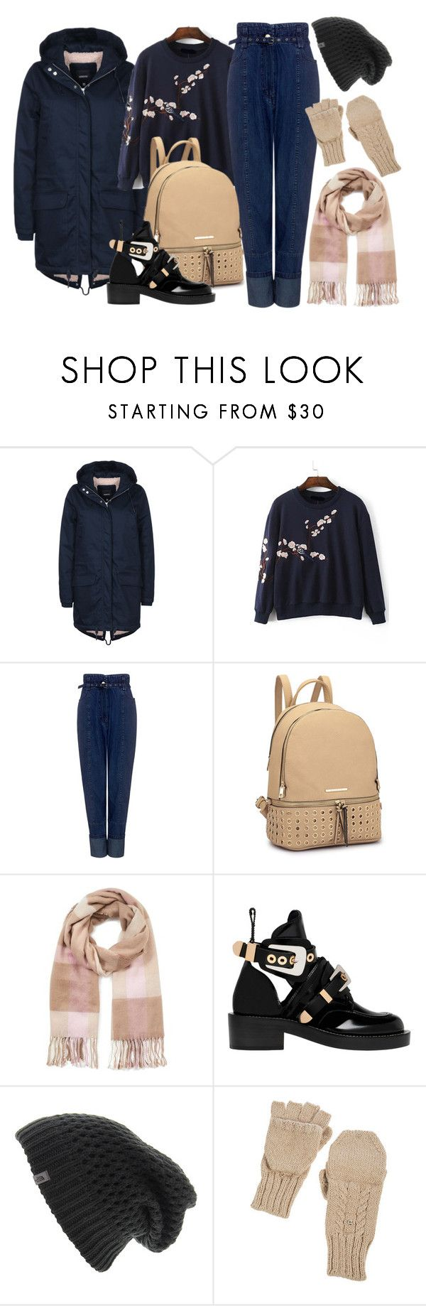 """Walk"" by okcini9 ❤ liked on Polyvore featuring Wemoto, Rachel Comey, Miss Selfridge, Balenciaga, The North Face, Overland Sheepskin Co., StreetStyle, denim, booties and autumn"