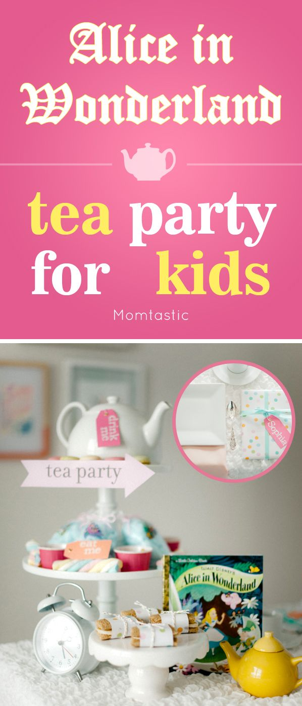 Alice in Wonderland themed tea party ideas