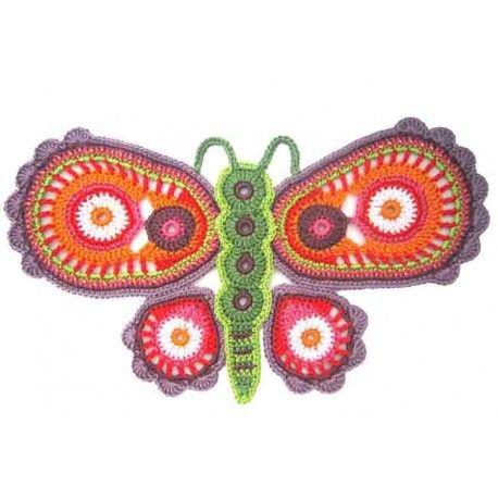 Free Crochet Pattern For Butterfly Wings : 17 beste afbeeldingen over vlinders op Pinterest
