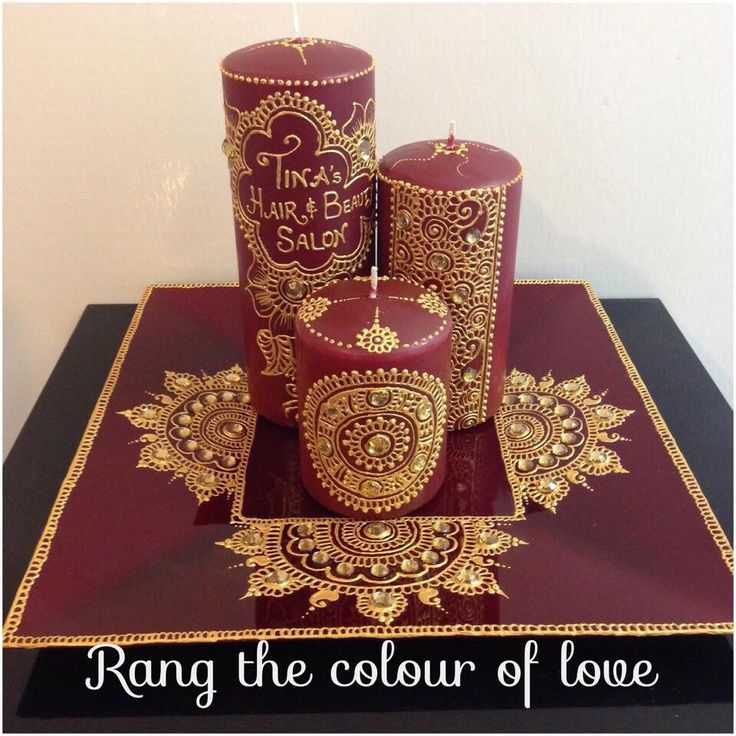 Mehndi Candles Personalised : Best henna candles images on pinterest