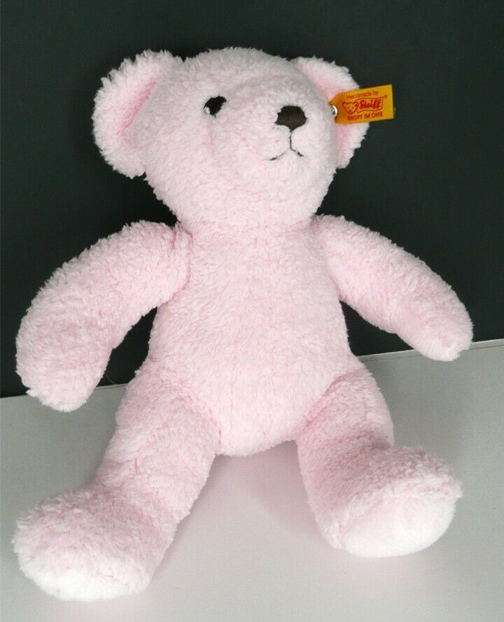 Details About My First Steiff Pink Teddy Bear Soft Hug Toy Baby