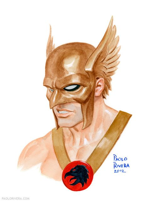 "rockofeternity: "" Hawkman by Paolo Rivera """