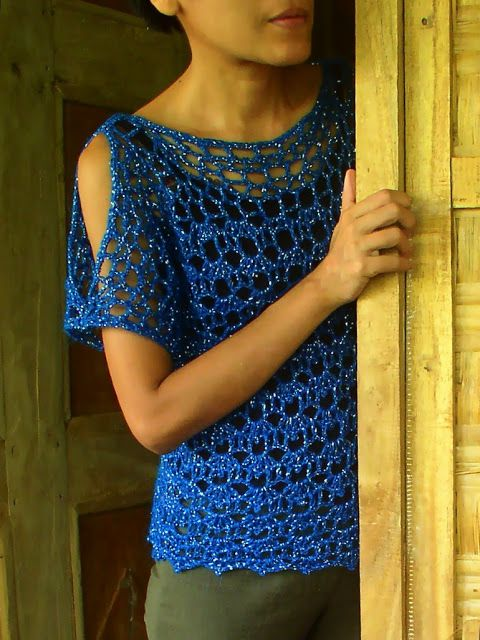 Crochetology by Fatima: Another Quick Crochet Blouse Project, instructions to…