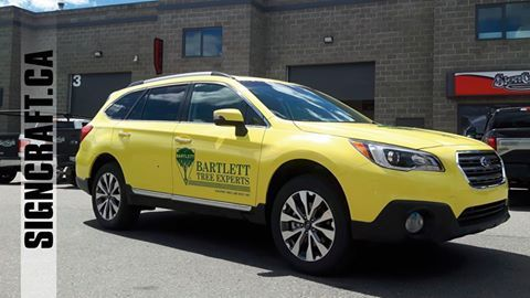 Another vehicle, from white to yellow for Bartlett Tree Experts - Okanagan #carwrap #3mvinylwrap #truckdecals #carbodycare #automotive  Visit us: http://customautographix.com/