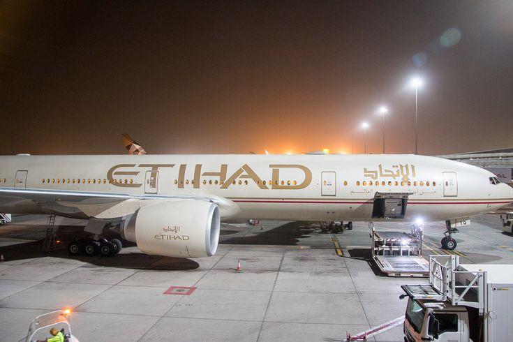 Etihad Business Class Boeing 777-300ER Abu Dhabi München