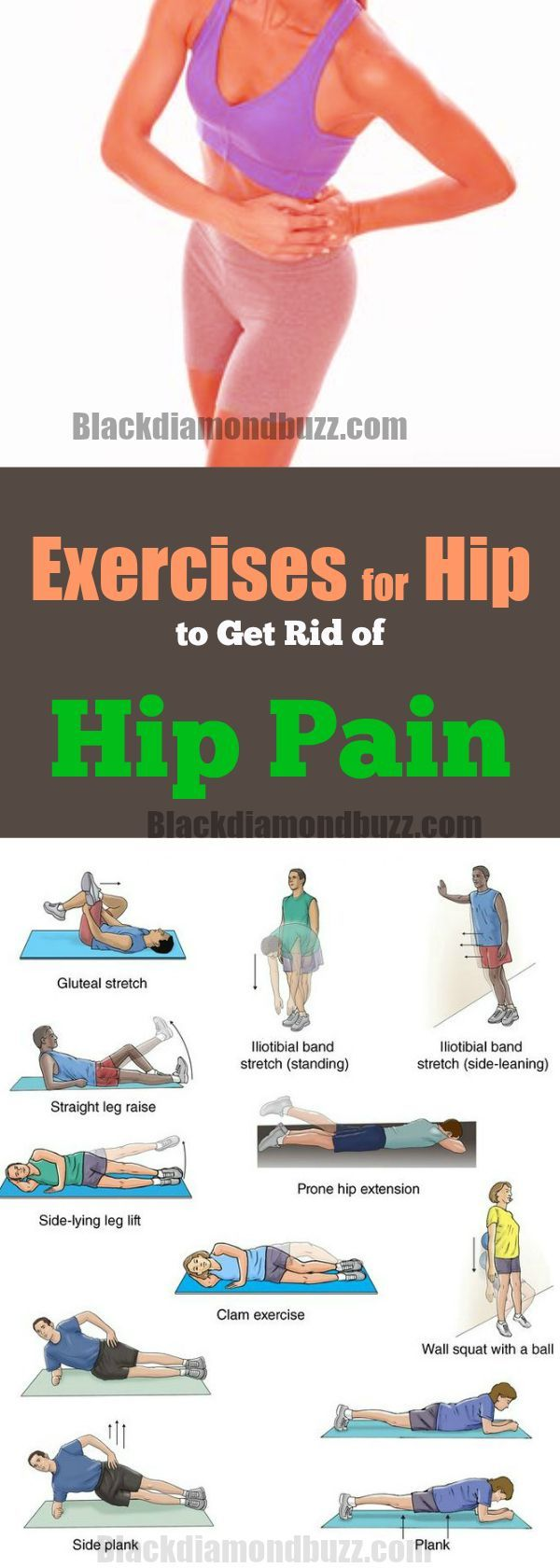 Exercises for Hip (Trochanteric bursitis) to Get Rid of Hip Pain | Hip Strengthening Exercises for Pain and Sciatic Nerve Relief |Thigh Workout  with Physical Therapy   #health #hippainrelief