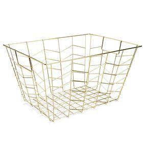 Brass-Coloured Wire Basket