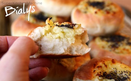 Tweet    Easy bialys recipe lets you decide if these versatile buns are indeed better than traditionally boiled bagels. Onions, cheese and poppy seeds make it ... Tweet    Mascarpone: make it with Thermomix to sa...Mocha Granita: an easy Thermomix recipeInstant Ginger Jam Recipe (just add wate...video: Thermomix Risotto with Don Genova