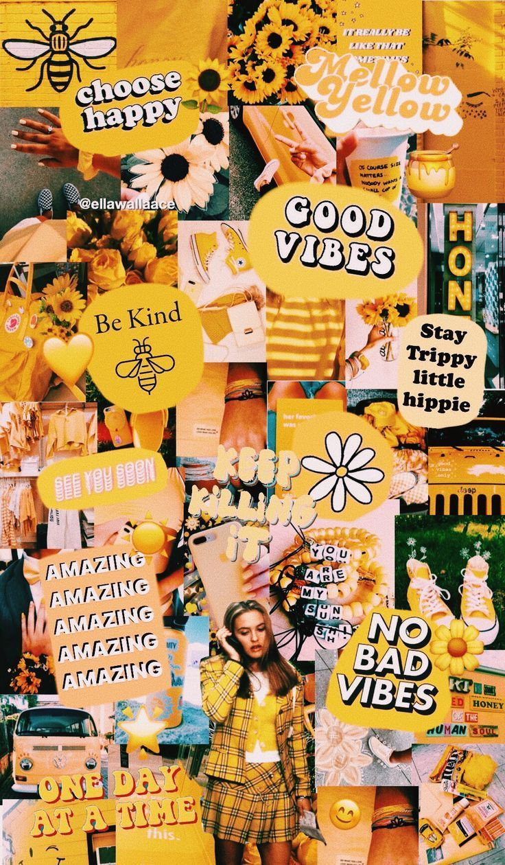 Follow Me On Vsco Ellawallaace The Post Yellow Collage First Appeared On Wallpapers App Iphone Wallpaper Vsco Aesthetic Iphone Wallpaper Yellow Wallpaper
