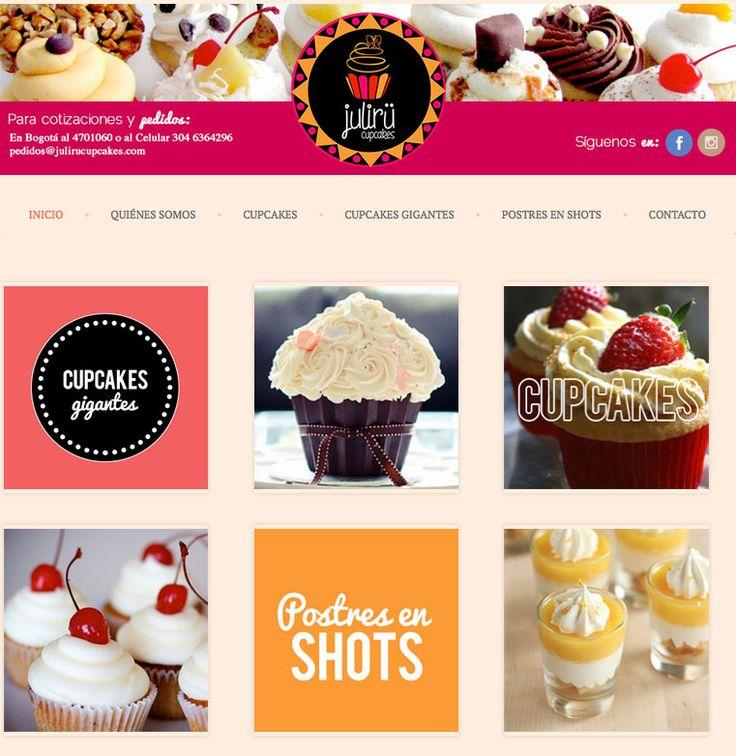 Sitio web para proyecto STARTUP - JURILU CUPCAKES - Año ©2014
