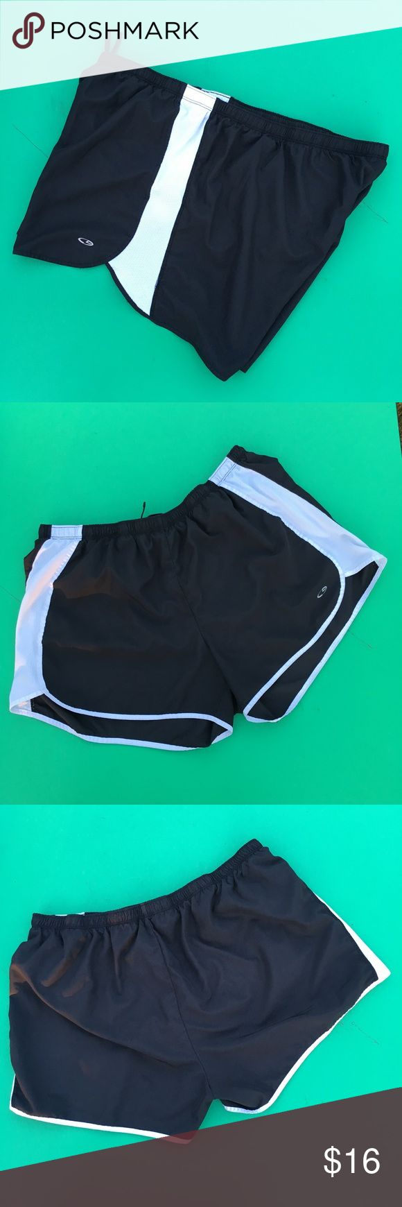"""Champion Sport Shorts Ladies XXL (waist 36.5"""") Champion Sport shorts. Wear these no matter what your doing. Top of waist to bottom of hem 13"""". Liner w/ key pocket. White sides are mesh for comfort and breath ability. Waist is elastic w/ draw string.     Just like New No stains, snags or damage Non smoking environment   Not the right size ,color or style you're looking for check out Molly's closet  Thanks for Looking Molly  M448/W.25 Champion Shorts"""