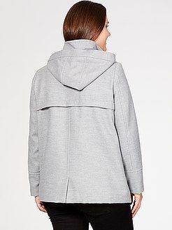 Grande taille femme Duffle-coat en lainage à capuche  - Kiabi