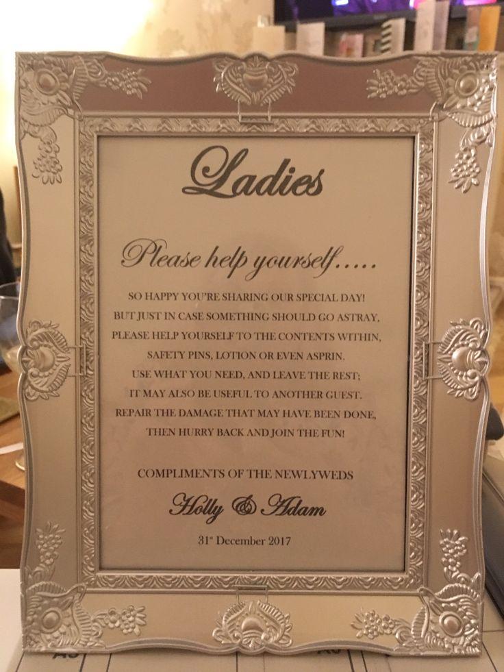 Ladies toiletries sign
