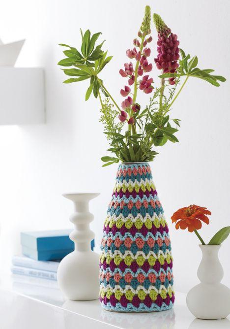 17 migliori immagini su crochet home decor su pinterest vasi coperture per sedia e Crochet home decor on pinterest