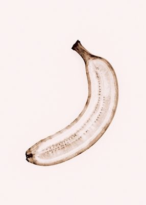A half naked banana. Available as poster at printler.com, the marketplace for photo art. Photographer Robert Frick.