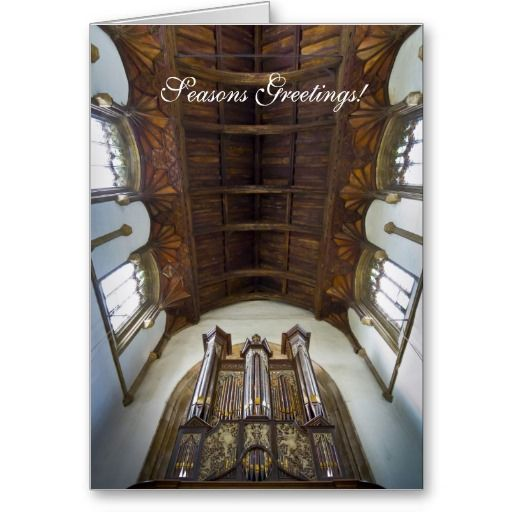 Framlingham organ Christmas card