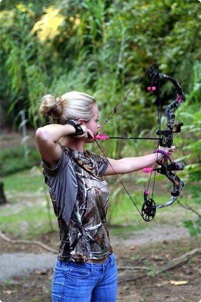 Girls can bow hunt too.......i want this bow!! with the pink! lol! The guys are going to teach me some more before i spend any money... can't wait!
