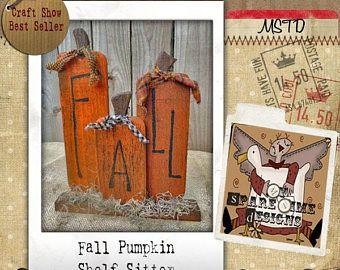 Wooden Pumpkin Pattern, Primitive Halloween Pattern, Primitive Fall Pattern,  Pumpkin Shelf Sitter, Primitive Pumpkin