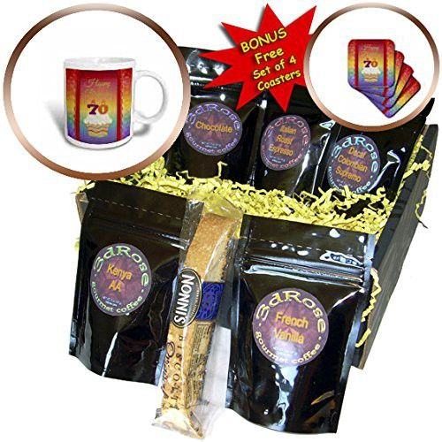 Beverly Turner Birthday Design - Cupcake with Number Candles, 70 Years Old Birthday - Coffee Gift Baskets - Coffee Gift Basket (cgb_244820_1)