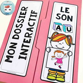 Le son AU | French Phonics Lapbook: interactive foldable activities to practice the French sound AU (as in sAUter, dAUphin, AUtruche, etc)