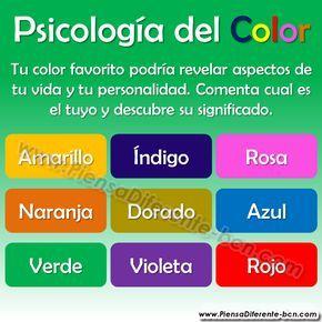 PSICOLOGÍA DEL COLOR ¿Alguna vez te has preguntado por qué razón tienes un color favorito?  La respuesta es más simple de lo que imaginas: los colores tienen la propiedad de reflejar gustos, estados de ánimo y otros aspectos importantes de nuestra vida y nuestra personalidad, por lo tanto, de acuerdo a nuestro estado emocional nos sentimos atraídos hacia algunos colores específicos. Si quieres conocer el significado de tu color favorito, ubícalo en nuestra lista y a continuación descubre su…