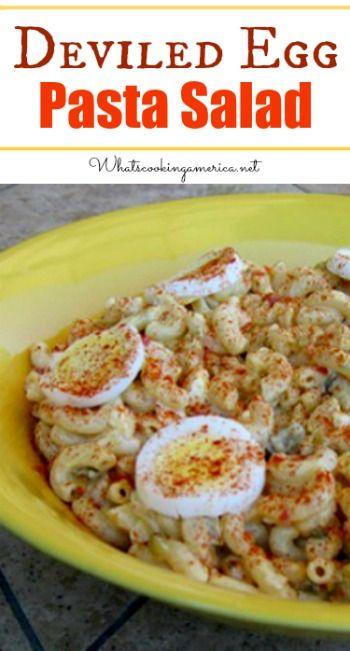 Deviled Egg Pasta Salad Recipe | Pasta Salad Recipes, Deviled Eggs and ...