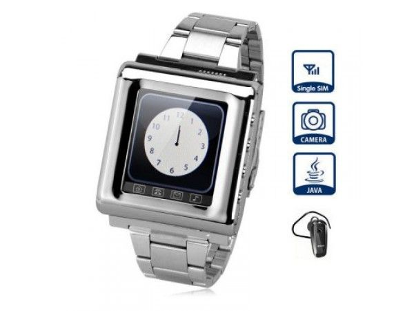 812 Watch Cell Phone with 1.5 in Touch Screen Quad Band Single SIM Bluetooth