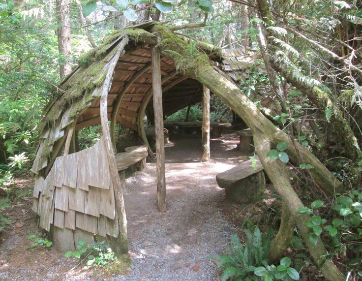20170820 - Story Telling Hut created by artist Jan Janzen, Tofino Botanical Gardens.