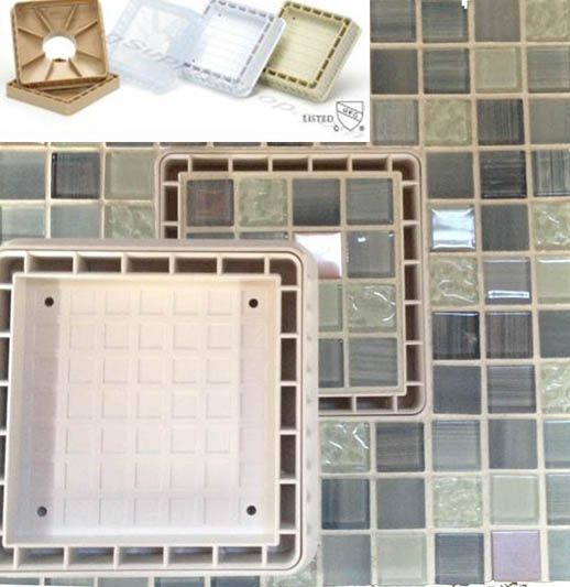 Tile Insert Shower Drain 5 inch. 4 Colors: Clear, White, Tan, Beige Durable and high quality of  tile insert drain for showers #shower #decor #drains #tile @a2zsell
