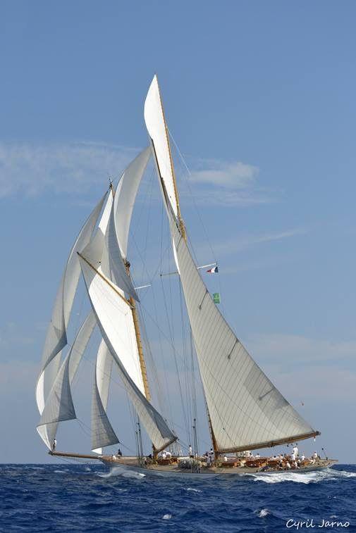 "Eleonora, replica of 1910 Herreshoff schooner Westward. 162' 5"" LOA, 136' 2"" on deck, 96' 2"" WL, 27' beam"