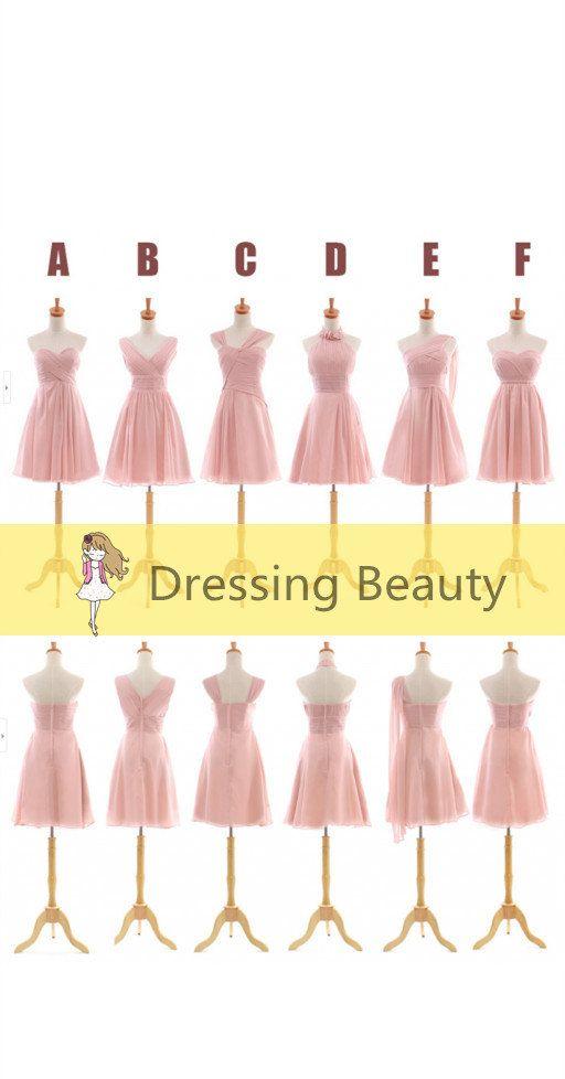 Simple robe rose de demoiselle d'honneur robe de par DressingBeauty, $96.89