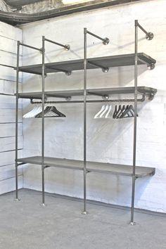 make a wardrobe with scaffold poles