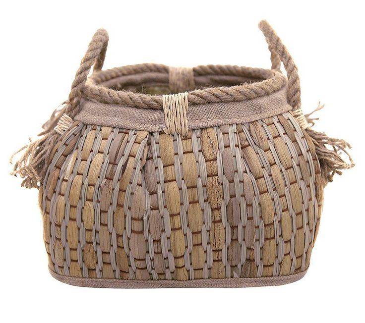 Woven Tasseled Baskets  Koh Living
