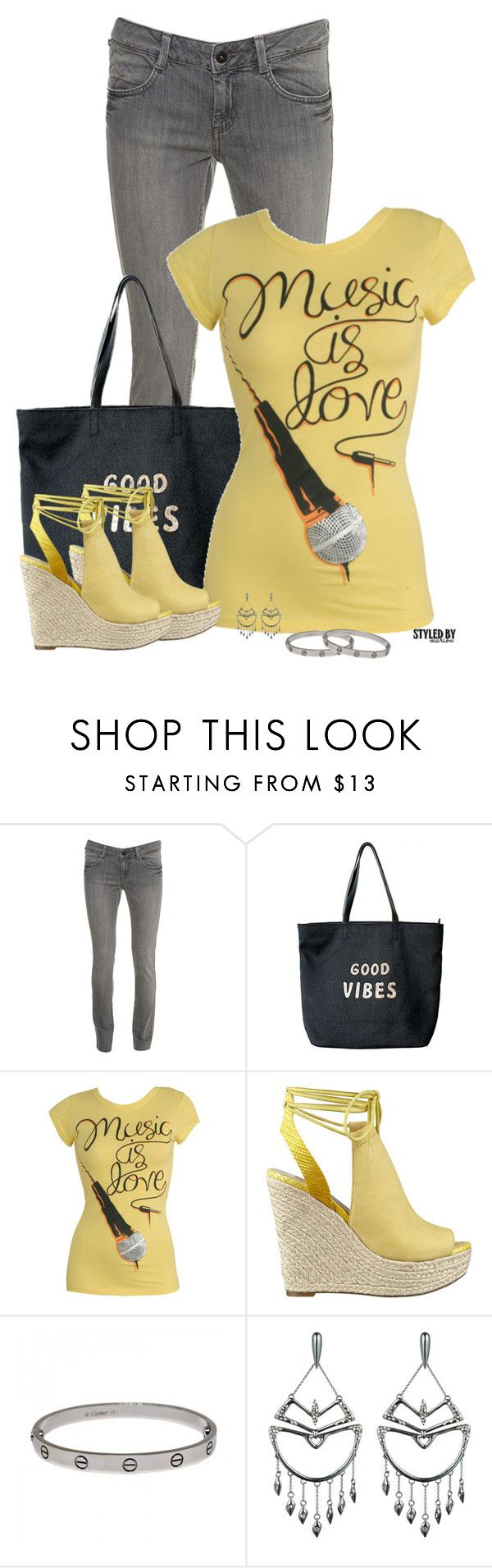 """""""Jazz Club Look"""" by marion-fashionista-diva-miller ❤ liked on Polyvore featuring Venus, Wet Seal, GUESS, Cartier, Alexis Bittar, weekendstyle, mygirls and jazzclub"""