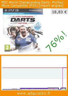 PDC World Championship Darts: ProTour - Move Compatible (PS3) [import anglais] (Jeu vidéo). Réduction de 76%! Prix actuel 18,83 €, l'ancien prix était de 77,01 €. https://www.adquisitio.fr/pid/pdc-world-championship