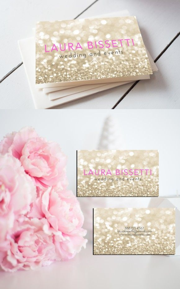 free printable wedding thank you cards with photo%0A Glitter Business Card  Wedding Fonts