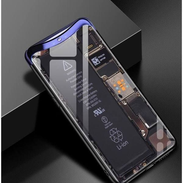 the best attitude 26457 b066e For oppo Find X case tempered glass back cover For oppo FindX Phone ...
