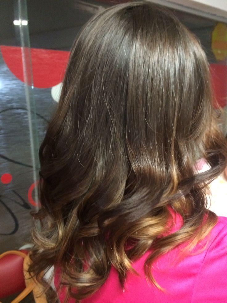 Flamboyage ombre balayage hair woman saloon21 belleza mujer cabello corto