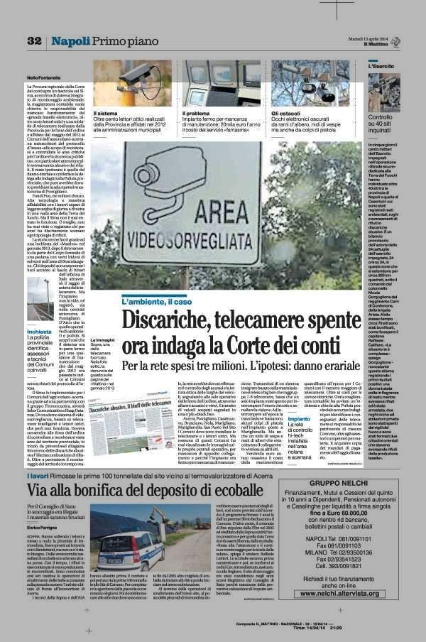 SIMA - telecamere di sorveglianza contro i rifiuti mai entrate in funzione in Campania