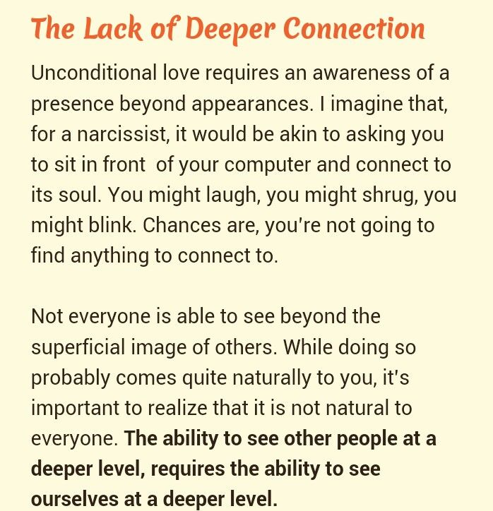 Deeper level.. Narcissistic Abuse Recovery