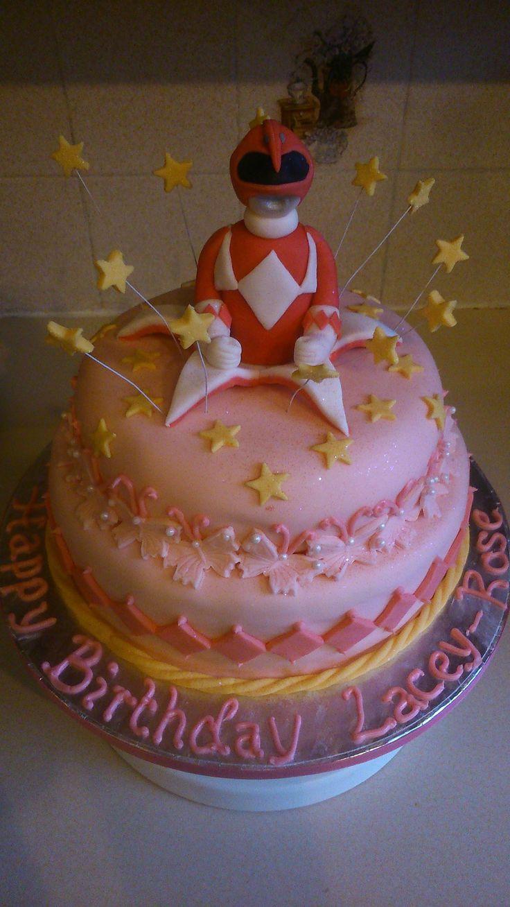 Pink Power Rangers Birthday Cake Shi Power Ranger Party