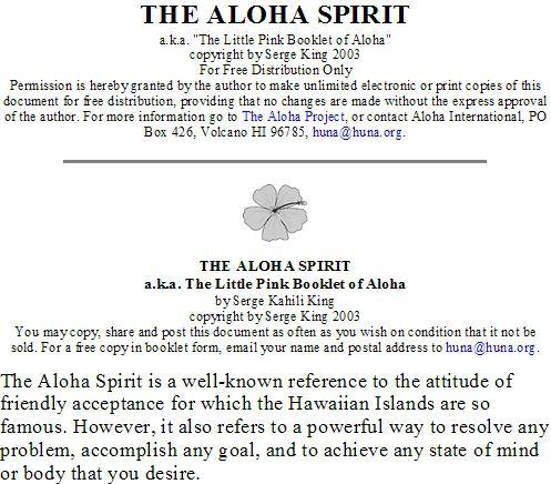 Living the Aloha Spirit | Aloha Spirit Meaning Related Keywords & Suggestions ...