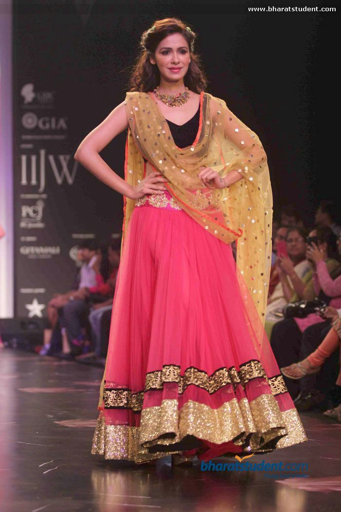 Black N Pink Lehenga 176 Indian Outfit 176 Pinterest