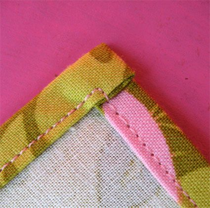 How to sew the corners on cloth napkins. Screenprinting fabric and making cloth napkins for gifts this year.